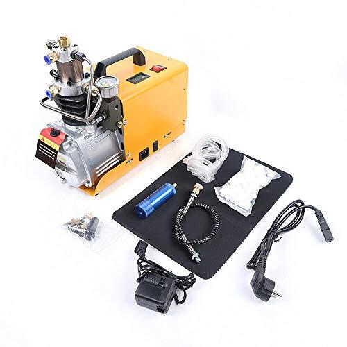 Generic 30MPA Kompressorpumpe Hochdruck Elektrische Luftpumpe PCP Luftpumpe, 4500 PSI Luftgewehr Scuba Gewehr Geeignet für Tauchflasche Normale Auto und Fahrradreifen