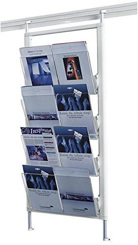 Legamaster 7-325500 Prospektregal für Legaline Dynamic Wandschienensystem, 8 Fächer im DIN-A4 Format, weiß