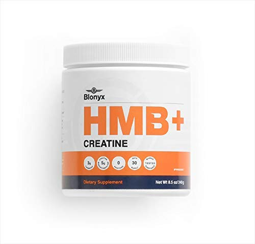 Blonyx HMB+Creatine - Improves Strength, Power, Lean Body Mass, Recovery - 30-Day Supply