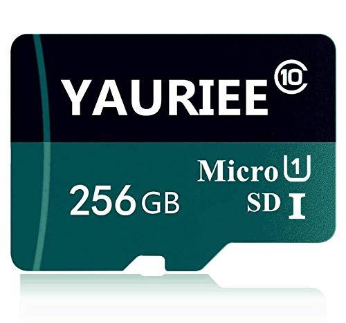 Scheda di memoria Micro SDHC classe 10 da 256 GB, Micro SD Card C10, scheda di memoria TF Card Transflash con Free SD Adapter for Phone/Camera (256 GB)