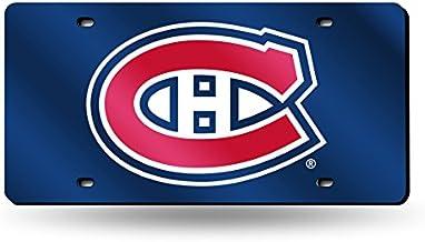 Rico Industries NHL unisex-adult Laser Inlaid Metal License Plate Tag