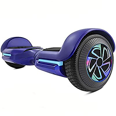 "Spadger Hoverboard Self Balancing Scooter 6.5"" Two-Wheel Self Balancing Hoverboard SS-1Jr with BLE Speaker and LED Lights APP Enabled Electric Scooter for Adult Kids - UL 2272 Certified"