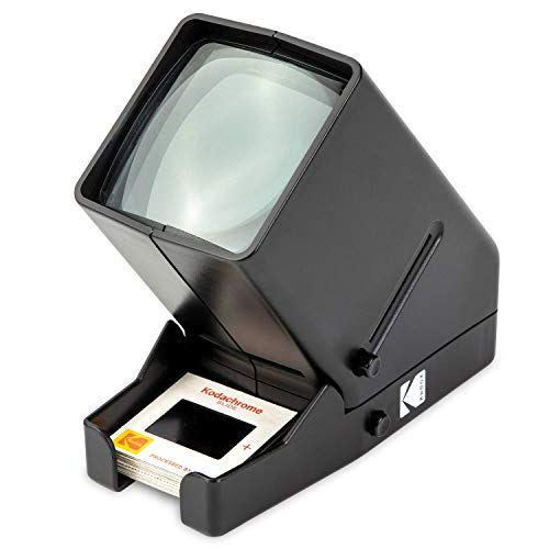 Review Of KODAK 35mm Slide and Film Viewer - Battery Operation, 3X Magnification, LED Lighted Viewin...