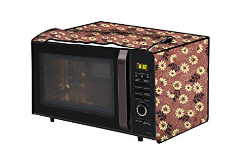 The Furnishing Tree Microwave Oven Cover for Panasonic 27 L Convection NN-CT645BFDG Sprig Pattern Brick