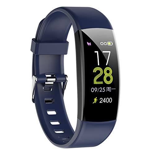 Pulsera Actividad Inteligente Smartwatch Fitness Tracker Impermeable IP67 con Monitor de Sueño Podómetro Pulsómetro para Mujer Hombre Niños con iOS y Android