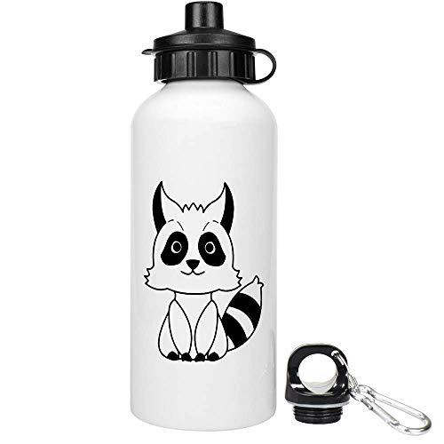 Azeeda 600ml 'Netter Waschbär' Trinkflasche / Wasser-Flasche (WT00027155)