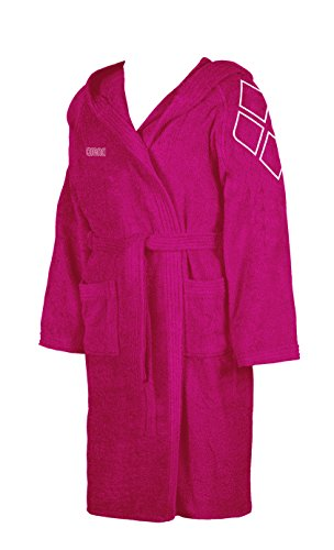 ARENA Zodiac Youth Unisex-Kinder Bademantel L rosa - Fuchsia/White