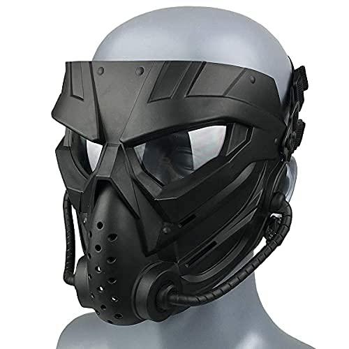 Wwman Paintball/Airsoft Maske, Verschleißfeste Taktisch Vollgesichtsmaske mit Antibeschlag Gläsern, Masken für CS Cosplay Halloween