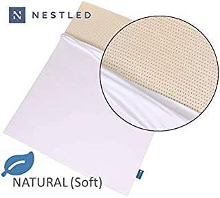 Take Ten 100% Natural Latex Mattress Topper - Soft Firmness - 2 Inch - Queen Size - Cotton Cover Included.