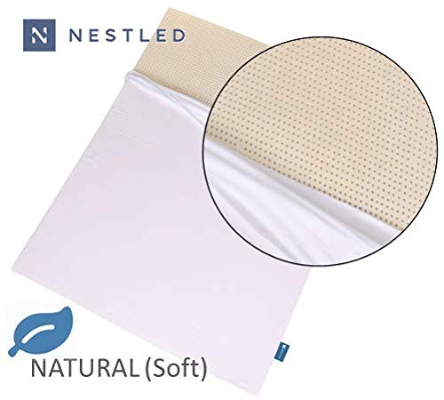 100% Natural Latex Mattress Topper - Soft Firmness - 3 Inch - King Size - Cotton Cover Included.