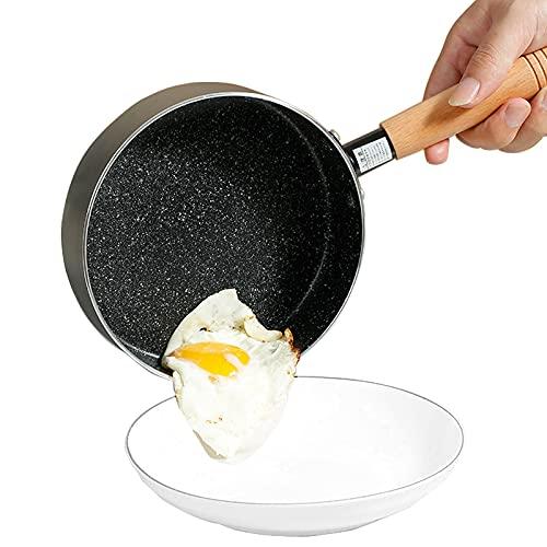 XXHDEE Sartén de panqueques sin Pegado de 18 cm, sartén de cepo de Aluminio Seguro de inducción con Mango - Sartén for Crepes, Chapati, Huevos fritos, Dosa (Color : Black)