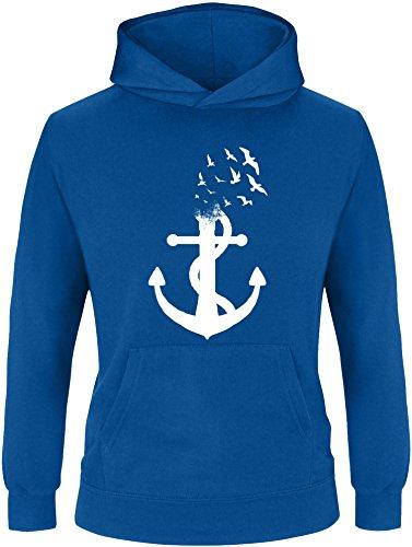 EZYshirt EZYshirt® Anker Ocean Kinder Hoodie | Kinder Kapuzenpullover | Kinder Pullover