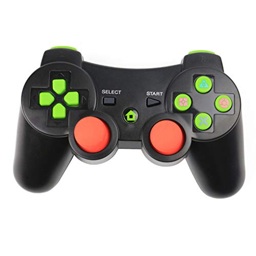 Pigup Bluetooth kabelloser Gamecontroller kabelloses Joystick-Gamepad für PS3 Video Gamepad Joystick schwarz