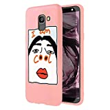 ZhuoFan Samsung Galaxy J6 Plus Case, Phone Cases Pink