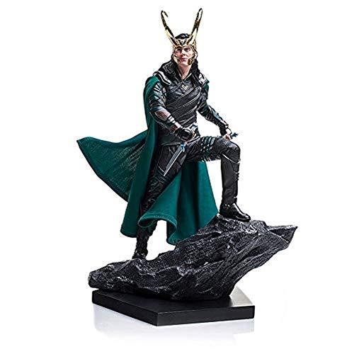 FHMHJH Raytheon Spielzeug Modell, Anime Comics Avengers Loki Film Raytheon Superheld 25cm Action-Figur Spielzeug