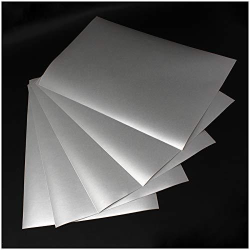(28,80€/m²) Din A4 Bogen Milchglasfolie Frosted Glass Folie Bastelfolie Selbstklebend Künstlerfolie Plotterfolie Plottfolie Basteln DIY (5er Set Din A4 Bögen)