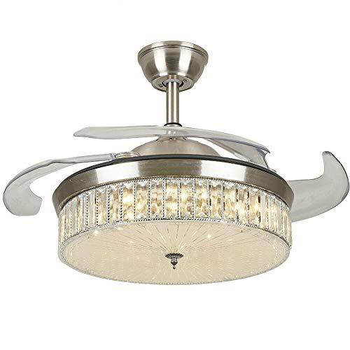 Ventilador de techo LED con iluminación y mando a distancia, ventilador de motor silencioso, ventilador de techo de 42 pulgadas LED