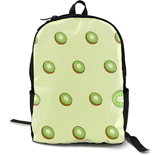XCNGG NiYoung Casual Large College School Daypack - Laptop Outdoor Backpack Kiwi Fruit Style Backpack