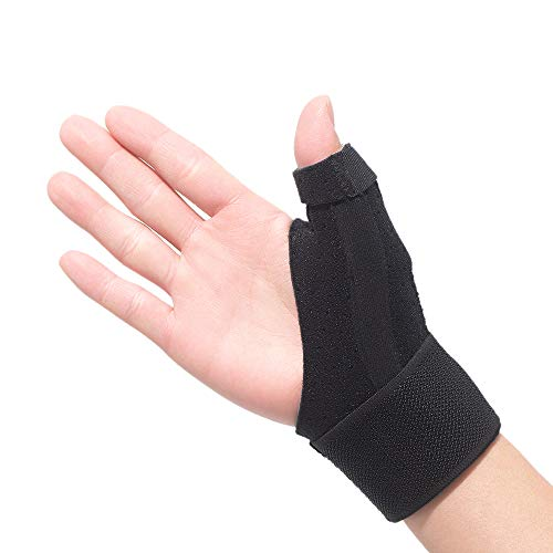 Reversible Thumb and Wrist Stabilizer for BlackBerry Thumb, Trigger Finger, Pain Relief, Arthritis, Tendonitis, Sprained and Carpal Tunnel Supporting, Lightweight and Breathable