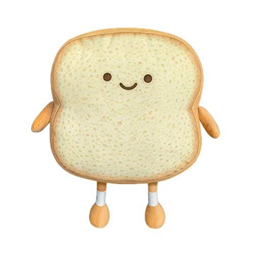 Aoligay Toast Bread Pillow Funny Food Plush Toy Pillows Small Cute Stuffed Plush Toast Sofa Pillow (Toast Bread,Golden)