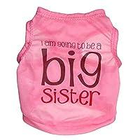 JIANYI フルポリエステル超薄型通気性ペットベストペット服Tシャツ (色 : ピンク, サイズ : S)
