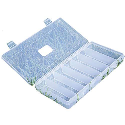 Lineaeffe Boîte Poly 6 25 x 14 x 3.5 cm Boîte de Pêche Rangement Accessoire Leurre Hameçon Compartiment Plastique
