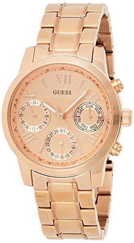 Guess Damen Analog Quarz Uhr mit Edelstahl Armband W0448L3