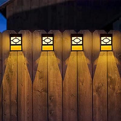 Solar Deck Lights, 6 Packs Outdoor Wall Lights Garden Decorative Fence Post Lighting