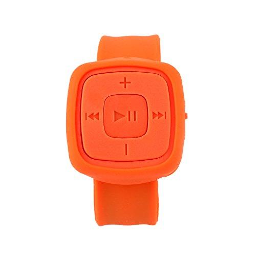 LISRUILY Leitor de música de pulso MP3 portátil compacto moda corrida esporte media player celular sem tela suporte USB cartão TF