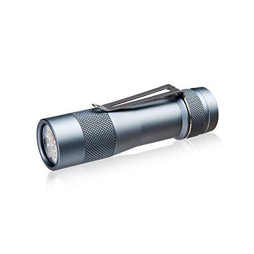 LED Taschenlampe Extrem Hell 2800 Lumen LUMINTOP FW3A Kleine EDC Lampe mit 3 CREE XP-L HI LEDs NW 5 UI IP68 Wasserfest 18650 Akku Betrieben, Tool für Alltag Outdoor Camping Wandern Notfälle, Grau