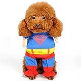Traje del perro mascota del hombre araña, ropa for perros, mascotas, cachorros, mono for mascotas, Superman, capas, mascotas, disfraces, ropa de fiesta de Halloween, abrigo de invierno for perros.