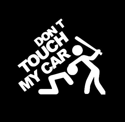 KUNFINE Auto Styling Sticker Don' t Touch My Car Auto del Vinile Decorazione Film DIY Adesivi Auto Tuning Parts 20 * 15 * 1cm