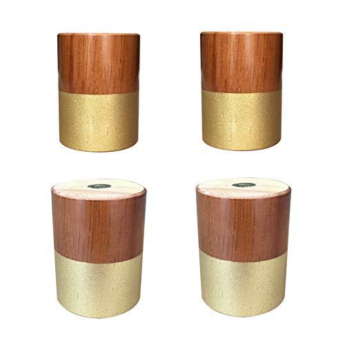 4 Pies de Muebles de Roble Patas de Muebles de Madera Muebles Piernas de Gabinete Pies del Sofá Mesa Cama Sillas Gabinete TV Armarios Escritorios,6cm