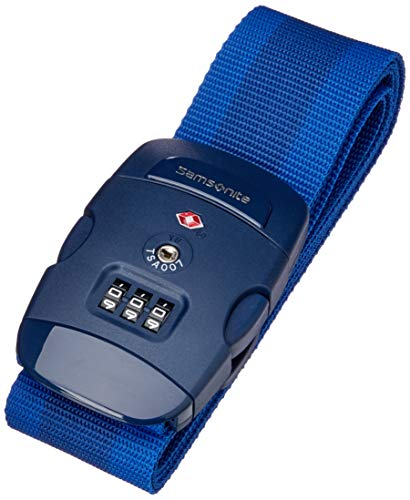 Samsonite Global Travel Accessories Luggage Cinghia per Valigie con Chiusura a Combinazione a 3 Cifre con Funzione TSA, 190 centimeters, Blu (Midnight Blue)