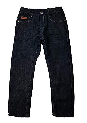 warme Jungen Thermohose, Jeanshose in Schwarz, Gr. 104, JTn48.4