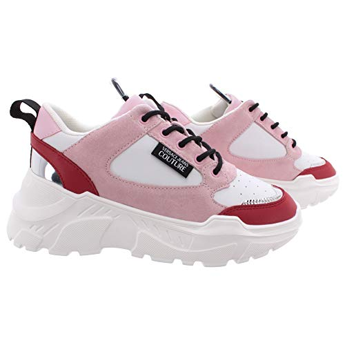 VERSACE JEANS COUTURE EOVVBSC2 Sneakers dames Wit/Roze/Rood Lage sneakers