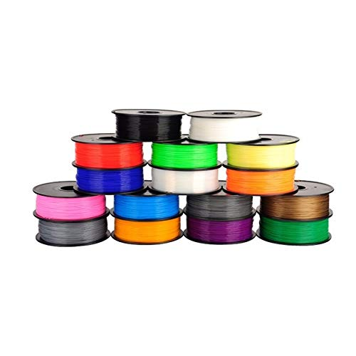 Pièces Imprimante 3D XXYHYQHJD 16pcs imprimante 3D PLA Diamètre 1.75mm Filament Poly 1kg Filament 3D Pen Impression Mini-Blancs Pièces Imprimante 3D XXYHYQHJD