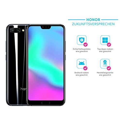 Honor 10 Smartphone (14,83 cm (5,84 Zoll), Full HD+ Touch-Display, 64GB interner Speicher, 4GB RAM, Schwarz - Deutsche Version