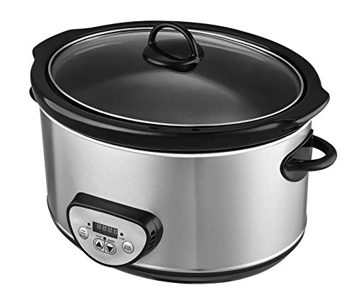Slow Cookers Stainless Steel Ceramic Dishwasher Safe 4.5L 3 Cooking Setting 280W
