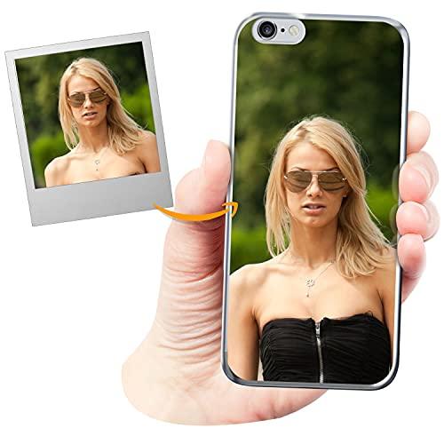 Coverpersonalizzate.it Cover Personalizzata per Apple iPhone 6 / 6scon la Tua Foto, Immagine o Scritta - Custodia Morbida in TPU Gel Trasparente - Stampa di altissima qualità