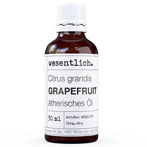 wesentlich. Grapefruitöl - ätherisches Öl - 100% naturrein (Glasflasche) - u.a. für Duftlampe und Diffuser (50ml)