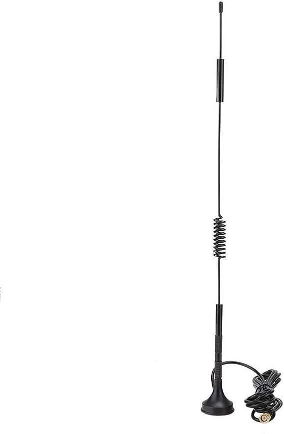 Kafuty Antena Exterior LTE SMA Macho 4G / 3G 18dBi Antena Ventosa magnética gsm de Alta Ganancia gsm Exterior 700-2700MHz 36cm de Alto(3m)