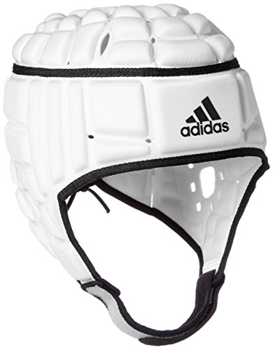 Adidas Rugby Headguard Casco, Hombre, Wht/Black, XS