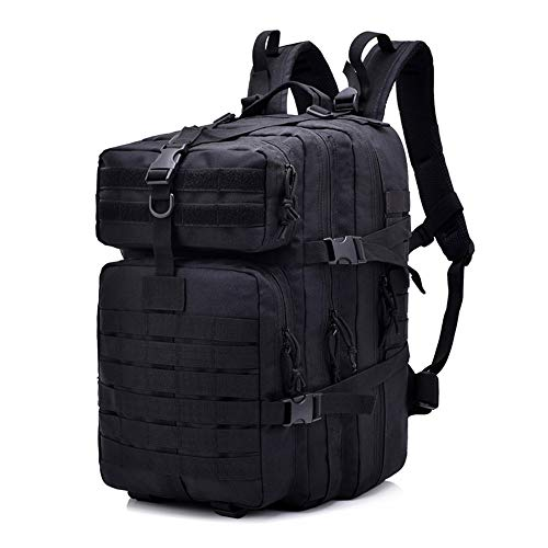 Tactical Assault Pack, TechCode Large 40 Litre Tactical Military Backpack Multiple Pockets Waterproof Unisex Outdoor Assault Pack Backpack with Adjustable Strap for Hiking Camping Hunting- A01