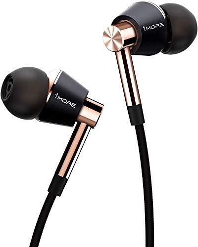 1More 1More - E1001-GOLD - Triplo Driver in Ear Headphones S-m-l-xl Oro