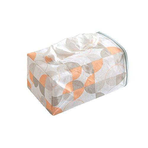 Funie Taschentuch-Aufbewahrung, Taschentuch-Papierbox für Zuhause, Auto, Auto, Auto, Blau OneSize White + Round