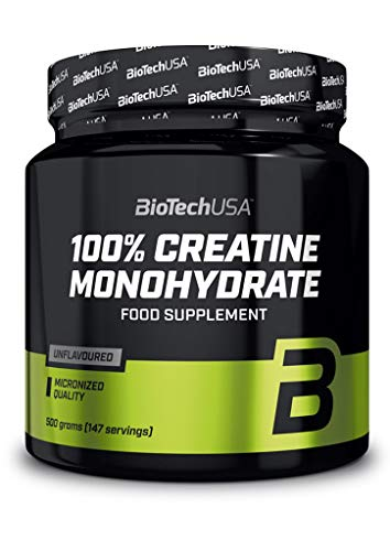 2 x Biotech USA 100{7af69dc6f7a4c93706115d8b6af6acd171d8bd282515f441c38bc3506826971c} Creatine Monohydrate, 500g Dose (2er Pack)