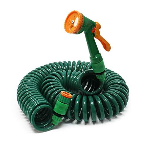 Manguera espiral riego jardín 15m tubo goma flexible regar Accesorios Casa Jardinería Plantas Brico