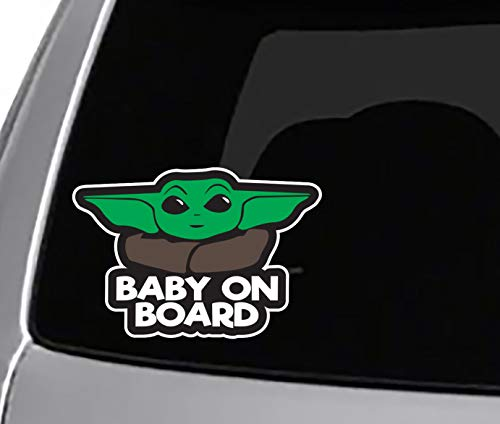 Seek Racing Baby ON Board Mando YO DA Decal Sticker Funny Cute CAR Truck Window Bumper Laptop Star Wars