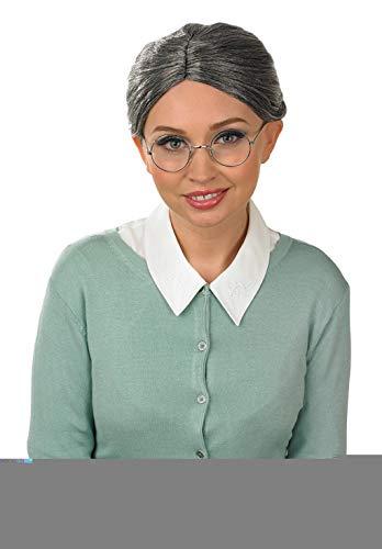 Fun Shack Granny Wig and Glasses - Perruque à la Mode